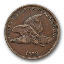 1858 Flying Eagle Cent Extra Fine to About Uncirculated US Coin SL #8364