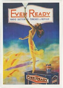 EVER READY Radio Batteries Torches - Refills - J Arthur Dixon postcard PAD 28788