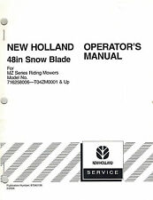 """NEW HOLLAND 48"""" BLADE  FOR MZ TRACTORS  OPERATOR MANUAL 87040106"""