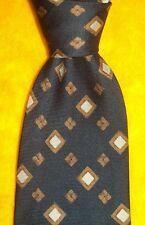 GIORGIO ARMANI ~DRESS SHIRT SUIT TIE ~STRIPE CUBE ORNAMENTAL ~BLACK TAN BROWN