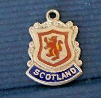 Scottish Souvenir Angus Angus Coat of Arms Montrose Montrose Vintage Sterling Shield Charm Enamel Shield Charm Scotland Charm