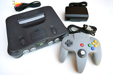 Nintendo 64 N64 Black Charcoal NUS-001(USA) Console Video Game System Complete