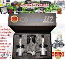 H7  LED 7600LM 72W 6000K BIANCO FREDDO COPPIA LAMPADA AUTO MOTO COB C6 12V 24V