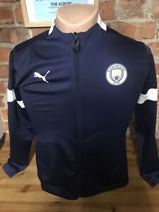 PUMA MANCHESTER CITY MAN CITY TRAINING FOOTBALL ANTHEM JACKET ADULT SIZE MEDIUM