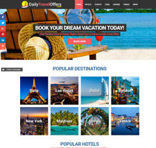 Money Making FULLY Automated TRAVEL Website Business For Sale - EARN $1-4/Lead
