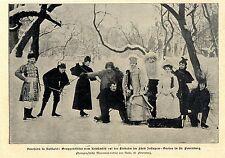 Kostümfest auf der Eisbahn im Fürst- Jussupow- Garten in St. Petersburg von 1900