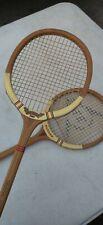 2 Vintage Dunlop Maxply Fort Wooden Squash Racquet International Model England