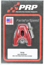 PRP 7510 Red Anodized Chevy Distributor Hold Down MADE IN THE USA