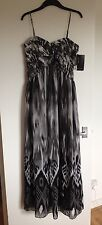 BNWT Ladies JS BOUTIQUE House Of Fraser Black, White & Grey Long Dress - Size 14
