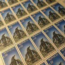 FEUILLE SHEET MONACO N°859 x30 CONTRE LA POLUTION / PINGOUIN 1971 NEUF ** MNH