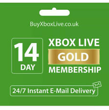 Xbox Live 14 DAY Gold Trial Code INSTANT DISPATCH (2 WEEKS)