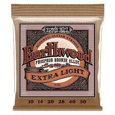 6 Ernie Ball 2150 Earthwood Extra Light Acoustic Guitar String Sets 10-50