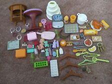 Barbie accessories lot food furniture