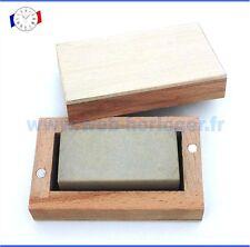 Pierre à affûter grain extra fin pour finition en coffret bois Outil horloger