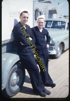 Navy Sailors Named Car Truck 1950s 35mm Slide Red Border Kodachrome