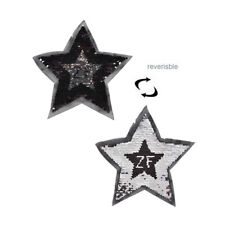 reversible change color sequins five-pointed star sew on patches for clothes、New