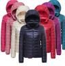 Women Duck Goose Down Ultralight Winter Jacket  Warm Puffer Coat Outwear S-XL LC