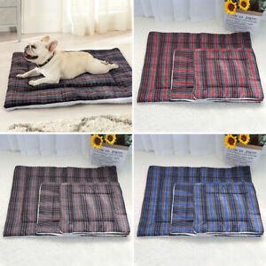 Dog Crate Bed Soft Dog Mattress Mat Anti-Slip Cushion Kennel Small Large Dogs