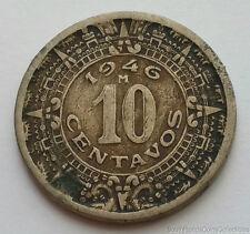 1946 Mexico 10 Centavos Copper Nickel Coin
