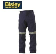 BISLEY WORKWEAR MENS CARGO PANTS WITH REFLECTIVE TAPE REGULAR BPC6007T