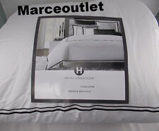 Hotel Collection Basics Embroidered Frame QUEEN Comforter & Shams Set Charcoal