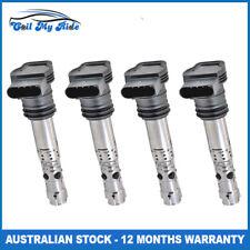 Set of 4 Ignition Coils for Audi A3 A4 S3 TT 4 Cylinder 1.8L 2.0L Engine