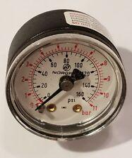 "Norgren 160# PSI Pressure Gauge, 18-013-212 New Old Stock 1.5"" 11 Bar NIB"