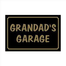 Grandad's Garage - 160mm x 105mm Plastic Sign / Sticker House, Garden, Pet