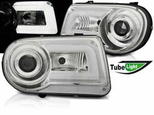 Headlights LED DRL Look for CHRYSLER 300C 05-10 LTI Chrome WorldWide Free Ship U