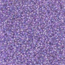 Toho 15/0 Round Seed Beads Transparent Rainbow Foxglove 8.2g Tube (L18/6)