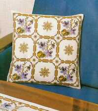 Permin Floral Cushion Pillow Counted Cross Stitch Kit Clematis Danish 14 x 14