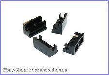 Lego 4 x Scharniere Unterteile schwarz - 3937 - Hinge Brick Base black - NEU/NEW