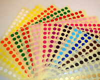 6mm / 10mm / 10 x 20mm, 20 x 30mm Colour Code Stock Dots Stickers Sticky Labels
