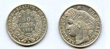 Gertbrolen*  50 Centimes  argent Cérès  1888 Paris Troisième République