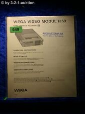 Sony Bedienungsanleitung WEGA Video Modul R50 (#0649)