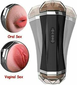 Male Masturbation Cup Flesh Light Hands-Free Vibrating Stroker