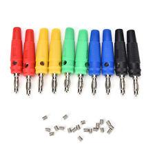5 color 4MM Banana Plug Nickel Banana Binding Post Card To Probes