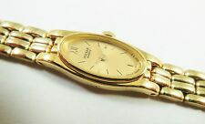 Pulsar by Seiko PEX382 Gold Tone Stainless V220-1620 Sample Watch NON-WORKING