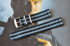 18mm James Bond 007 2-Piece Strap Watch Band 316 Steel Fits Omega Seamaster ++