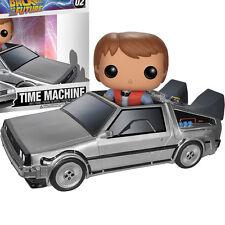 FUNKO POP Back to the Future DeLorean Time Machine & Marty SOFT VINYL FIGURE NEW