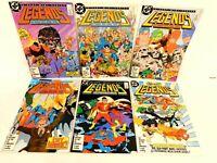LEGENDS #1-6 DC 1986 COMPLETE 1ST NEW SUICIDE SQUAD