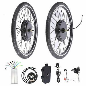 48V Electric Bike Conversion Kit  26'' Front Wheel Brushless Motor Hub