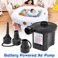 Mini Portable Battery Electric Air Pump Airbed Car Boat Camp Mattress Inflator