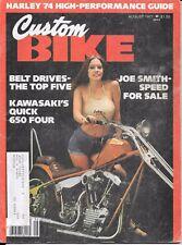 Custom Bike Magazine August 1977 Kawasaki 650 Four Joe Smith chopper  motorcycle