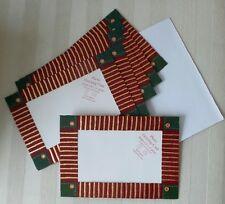 Holiday PHOTO FRAME Greeting Card PLAID RIBBON 6 Count SEASON'S GREETINGS 4 x 6