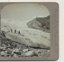Hikers the Evolution of a Glacier Universal Photo Art Stereoview 1904
