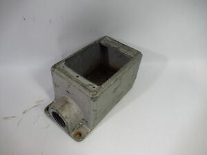 "Crouse-Hinds FD2-3/4 Cast Iron Single Gang Device Box 3/4"" Hub ! WOW !"