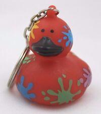 American Heart Association - Quacky Rubber Duck Splatter Keychain AHA Jump Rope