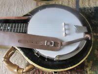 Gold Tone CC-100R+ CC-100-R Cripple Creek Maple 5-String Resonator Banjo w/ case