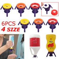 6Pecies Flip Toss It Bottle Cap Stand Kit Kichen Bathroom Economy Shampoo Holder
